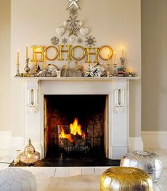 Don't like the gold but spray wooden letters for Christmas decor