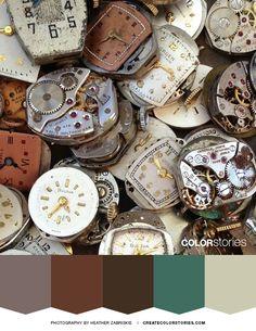 Unwilling Time | Color Stories™ #colorpalette #colour #colorstoriesblog #time #designinspiration #colorinspiration #watch #colorscheme #design