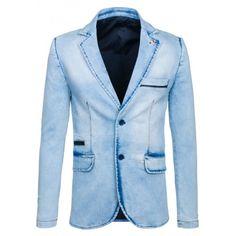 Pánské casual sako z kolekce na Bolf. Summer Collection, Suit Jacket, Breast, Blazer, Suits, Casual, Jackets, Fashion, Down Jackets
