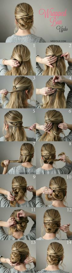 Wrapped Bun Up do | Hairstyle for long hair tutorial