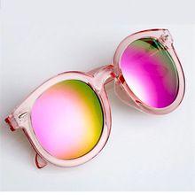 De grandes dimensões rosa espelhado óculos de sol das mulheres do vintage  marca retro feminino óculos fb1acaf8a2