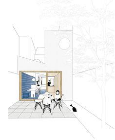 Gray simplistic outlines. Colored interior