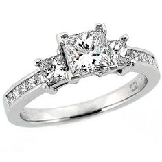 Princess Cut 3-Stone Engagement Ring: Stardust Diamonds - Engagement Ring,engagement rings,diamond engagement rings