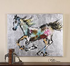 Modern Art Horse Wall Art | Equestrian Painting Intelligent Design http://www.amazon.com/dp/B00SVYNWUW/ref=cm_sw_r_pi_dp_gRRRvb03RDBHX