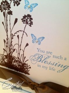 Stampin Up! PreMade Homemade Cards Kit using Serene Silouettes and Blessings from Heaven - Etsy Shop CrystalEffects