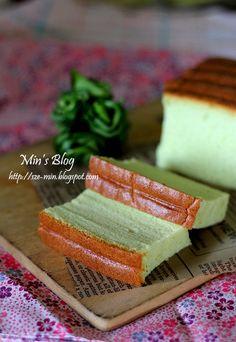 Min's Blog: Pandan Ogura Cake 班兰相思蛋糕