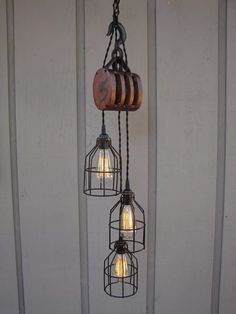 Industrial Modern Farmhouse Pulley Pendant Light