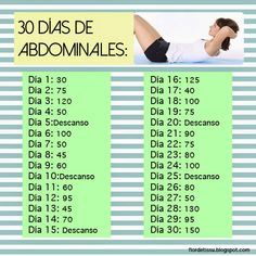 30 días de abdominales