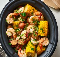 How to Make the Best Shrimp Boil in the Slow Cooker. This southern cajun favorite is easy to make in your crockpot or crock pot. Great for parties in the summer or any kind of party really. Shrimp Recipes Crockpot, Slow Cooker Recipes, Seafood Recipes, Cooking Recipes, Healthy Recipes, Crockpot Dishes, Crock Pot Shrimp Gumbo Recipe, Crockpot Gumbo Recipe, Crockpot Recipes For Summer