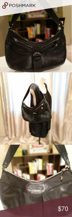 🎆SALE 🎆 Cole Haan Hobo bag Great used condition. Black Cole Haan Hobo bag (Alexa sp05).  One zipper pull missing (as pictured). Length: 16 inches Height: 8.5. Cole Haan Bags Hobos