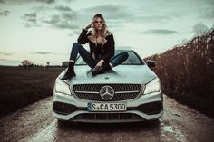 Update for a designer gem by Mercedes-Benz: A facelift hones the design of the CLA Coupé (C and CLA Shooting Brake (X Mercedes Amg, Mercedes Girl, Mercedes Sprinter, Sprinter Van, My Dream Car, Dream Cars, Cla 45 Amg, Co2 Emission, Shooting Brake