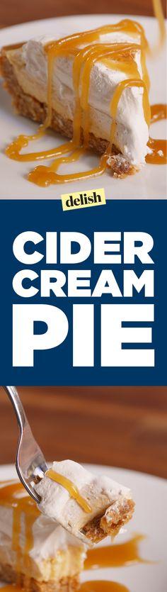 Cider Cream Pie sounds weird but tastes amazing...Get the recipe on Delish.com.