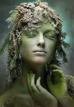 56 Ideas For Mother Nature Fantasy Costume Ideas Fantasy Makeup, Fantasy Art, Fantasy Fairies, Dark Fantasy, Wood Nymphs, Photoshop, Fantasy Photography, Halloween Photography, Special Effects Makeup