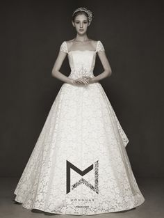 This classic vintage-inspired wedding gown from Monguae is full of meticulously crafted details and luxurious fabrics! 15 Dresses, Bridal Dresses, Wedding Gowns, Asian Wedding Dress, Church Wedding, Here Comes The Bride, Designer Dresses, Vintage Inspired, Marie