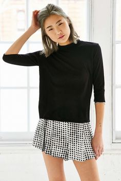 Truly Madly Deeply Bailey Mock-Neck Top - Urban Outfitters