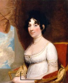 Dolly Madison, wife of the fourth President of the United States, James Madison, and friend of the third President of the United States, Thomas Jefferson. Born in Greensboro, NC on May 20, 1768.