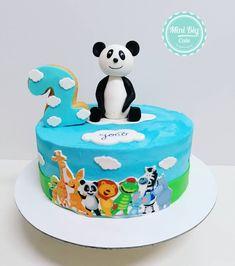 Bolo Floral, Floral Cake, Pastel Mickey, Bolo Panda, Panda Cakes, Cake Decorating, Birthday Cake, Kid, Party