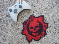 Gears of War -Skull - Perler Bead Sprite by BigBossFF on DeviantArt