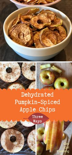Dehydrated spiced apples are one of nature's perfect (healthy) candy. Learn how to make them three ways: with dehydrator or oven, spices or essential oils. Dehydrated Apples, Dehydrated Food, Healthy Candy, Healthy Sweet Snacks, Dried Apples, Dehydrator Recipes, Canning Recipes, Apple Recipes, Clean Eating Snacks