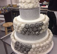 Glam Cake Pop Wedding Cake!!!!!