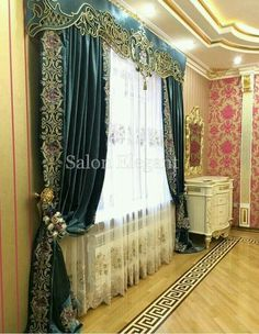 Curtain Styles, Curtain Designs, Curtains And Draperies, Drapery, Victorian Curtains, Rideaux Design, Classic Curtains, Interior Design Gallery, Beautiful Curtains