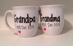 Pregnancy announcement mug grandparent mug by simplymadegreetings, $25.00