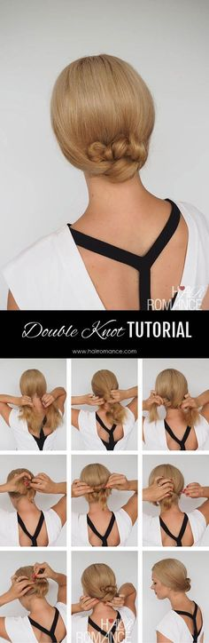 Double knot; Get the scoop on these wedding hairstyle tutorial looks from Hair Romance's amazing blog. hairromance.com