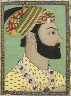 Portrait of Ahmad Shah Durrani, Mughal miniature, Bibliothèque nationale de France Rajasthani Painting, Indian Paintings, Art Paintings, Vintage Paintings, Abstract Paintings, Mughal Miniature Paintings, Iranian Art, Historical Art, Hindu Art
