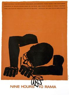 """Nine Hours to Rama"" - Saul Bass #poster #art #graphicdesign"