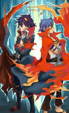 Gurren Lagann - Simon and Kamina