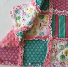 NEW Forest Friends Owl Rag Quilt Lovey by IcingOnTheCupcake