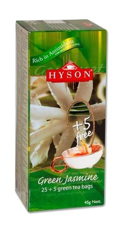Název Produktu: Zelený čaj Jasmín Kód produktu: CZGT026 Hmotnost: 45g (30 sáčků x 1,5g) Ingredience: Zelený čaj, příchuť jasmínu. Popis produktu: 1.5g čaje zabaleného do dvojitě přehnutého baleného filtru v jednotlivých obálkách.30 obálek čaje v jedné krabičce. 45,00 Kč