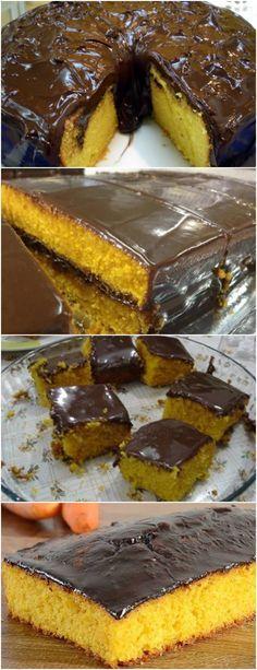 RECEITA DA VOVÓ..BOLO DE CENOURA COM COBERTURA TRADICIONAL VEJA AQUI>>>MASSA: Bata todos os ingredientes no liquidificador, menos o fermento. Acrescente o fermento em pó e misture com uma colher. #receita#bolo#torta#doce#sobremesa#aniversario#pudim#mousse#pave#Cheesecake#chocolate#confeitaria