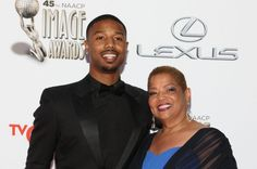 Michael B. Jordan and mother Donna Actor Michael B. Jordan (L) and mother Donna Jordan arrive for the 45th NAACP Image Awards at the Pasadena Civic Auditorium in Pasadena, California on February 22, 2014. The NAACP Image Awards celebrates the accomplishments of people of color in the fields of television, music, literature and film and also honors individuals or groups who promote social justice through creative endeavors. UPI/Ken Matsui | License Photo