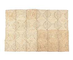 Alfombra en fibra vegetal de maíz, natural - 60x120 cm