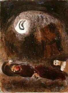 'Ruth Aux Pieds de Booz' Marc Chagall.