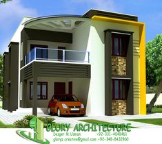 Charming 25x50 House Elevation, Islamabad House Elevation, Pakistan House Elevation  ~ Glory Architecture