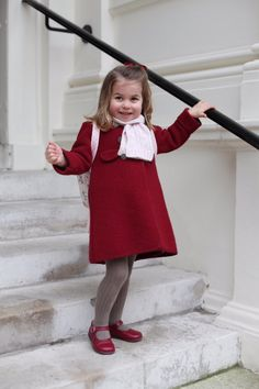Princess Charlotte, daughter of Prince William & Princess Kate, already on her way to be a Fashionista like her famous, fashionable Mommy!!  What a doll!!  All say she looks most like her royalty Grandmother, Queen Elizabeth!!!
