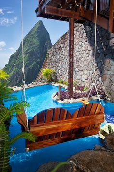 St. Lucia Resort Ladera Resort. Talk about a room with a view