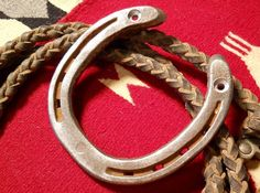 FOR SALE in Lone Raven Ranch eBay shop - please follow link.. http://www.ebay.com/usr/loneravenranch (subject to prior sale) Free Ship Lucky Authentic Horseshoe Gift Ready2Hang Cowgirl Cowboy USA Ranch 9 #Capewell #BlacksmithArtPrimitiveWesternCountryGoodLuck #HandworkedbyUSASeller
