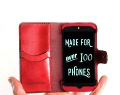 Nexus 5 Leather Wallet Case - No Plastic - Free Inscription