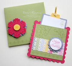 Scallop Pocket Card with coordinating custom envelope - Stampin' Up! www.elainescreations.blogspot.com
