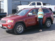 Kari McCarty of Vandalia and her new 2014 JEEP GRAND CHEROKEE! Congratulations and best wishes from Hosick Motors, Inc. and Sales Pro Bryan Hobbie.