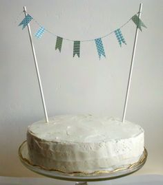 Cake Bunting party decoration washi tape blue garland for $5