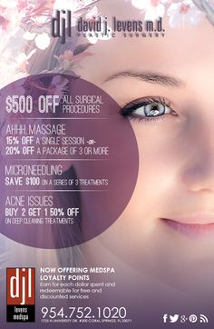 Introducing our latest specials! Contact us today for more information or to schedule a consultation.