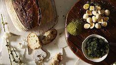 Pickled quail eggs, fennel salt and salsa verde recipe : SBS Food