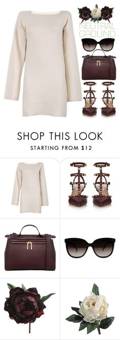"""""""Neutral Dress"""" by bmaroso ❤ liked on Polyvore featuring See by Chloé, Valentino, Karen Walker, Abigail Ahern, dress, neutrals, neutral and winterstyle"""