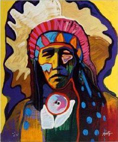gorgeous portrait native american paintings | John Nieto Wild Horse Native American Indian Art | eBay
