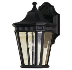 View the Murray Feiss OL5400 Traditional 1 Light Outdoor Wall Lantern from the Cotswold Lane Collection with Clear Beveled Glass Shade at LightingDirect.com.