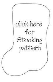 Image result for felt christmas stocking pattern